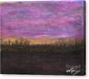 A Holt Sunset Canvas Print by Myrtle Joy