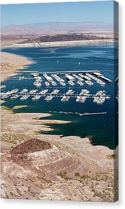 A Marina On Lake Mead Canvas Print by Ashley Cooper
