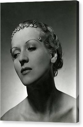 A Model Wearing Cartier Diamonds Canvas Print by Horst P. Horst