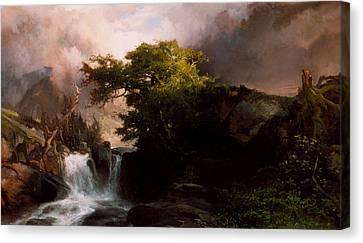 A Mountain Stream Canvas Print