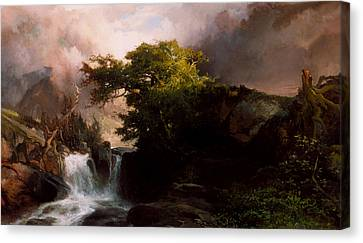 A Mountain Stream Canvas Print by Thomas Moran