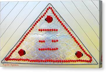 A Power Triangle Canvas Print by Augusta Stylianou