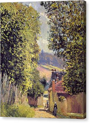 A Road In Louveciennes Canvas Print by Alfred Sisley