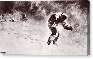 Stormy Canvas Print - A Very Gallant Gentleman by John Charles Dollman