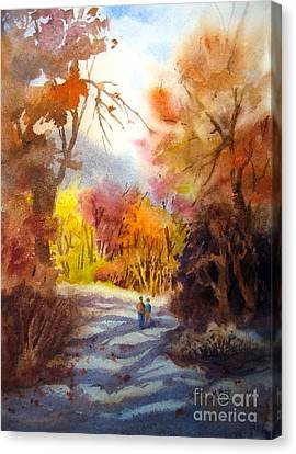 A Walk In The Fall Canvas Print by Mohamed Hirji