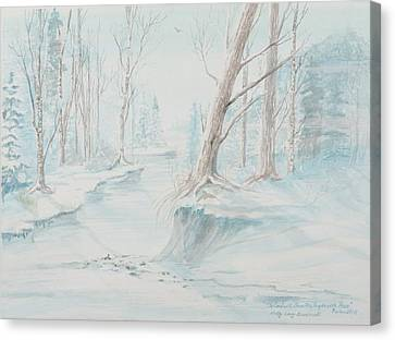 A Winter Path Canvas Print by Cathy Long