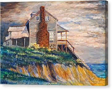 Abandoned Beach House Canvas Print by Dan Redmon