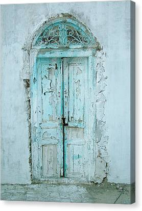 Canvas Print featuring the photograph Abandoned Doorway by Donna Corless