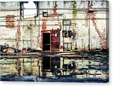 Abandoned Factory Interior Canvas Print by HD Connelly