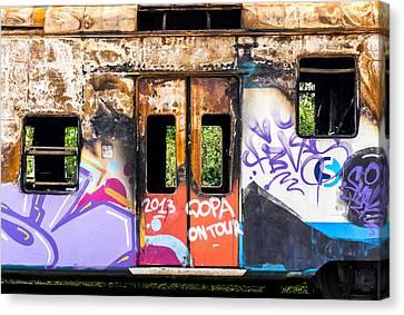 Abandoned Rail Car Canvas Print by Jim Hughes