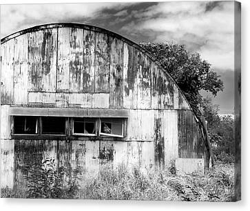 Abandoned Ww2 Quonset Hut Canvas Print