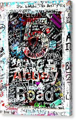 Abbey Road Graffiti Canvas Print by Stephen Stookey