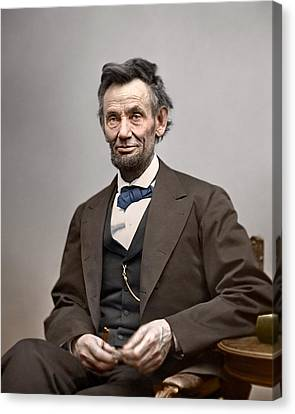 Abe Lincoln President Canvas Print by Retro Images Archive