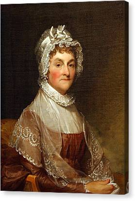 Canvas Print featuring the photograph Abigail Smith Adams By Gilbert Stuart by Cora Wandel