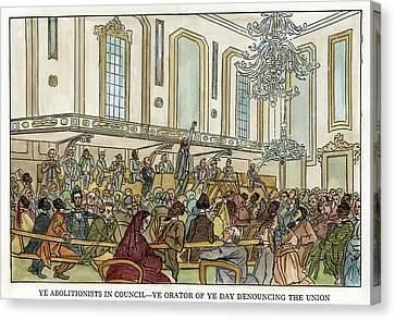 Abolition Cartoon, 1859 Canvas Print