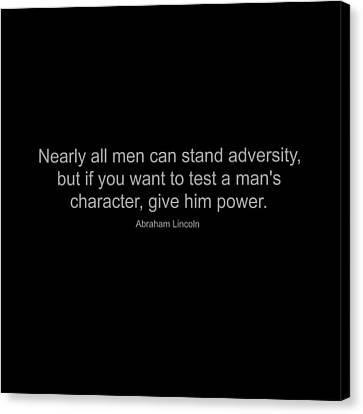 Abraham Lincoln Quote Canvas Print