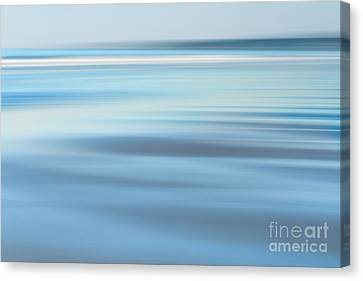 Abstract Blue Beach  Canvas Print by Katherine Gendreau