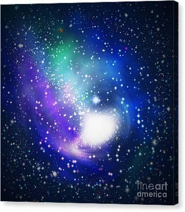Abstract Galaxy Canvas Print by Atiketta Sangasaeng