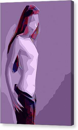 Abstract Girl Canvas Print