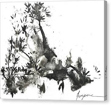 Abstract Ink Art Canvas Print by Patricia Awapara