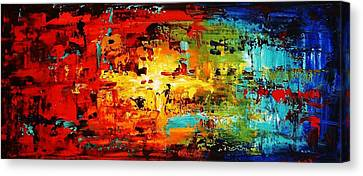Abstract Large Painting Canvas Print by Jolina Anthony