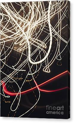 Abstract Light Trails In Speed And Motion On Black Canvas Print by Jorgo Photography - Wall Art Gallery