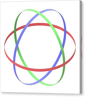 Abstract Orbit Circles Canvas Print by Alfred Pasieka