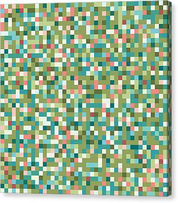 Abstract Pixels Canvas Print by Mike Taylor
