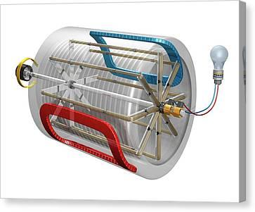 Ac Generator Canvas Print by Carlos Clarivan