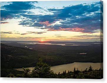 Acadia National Park Sunset  Canvas Print by Trace Kittrell