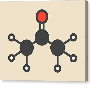 Acetone Solvent Molecule Canvas Print by Molekuul