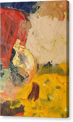 Pallet Knife Canvas Print - Acrylic Abstract Painting by Donald  Erickson