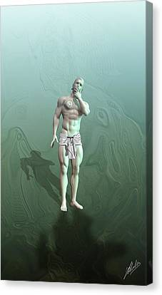 Slaves Canvas Print - Adam Synthetic by Quim Abella