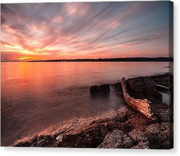 Adriatic Sunset II Canvas Print by Davorin Mance
