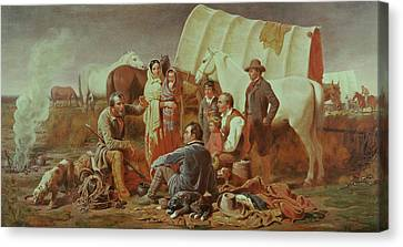 Advice On The Prairie  Canvas Print by William Tylee Ranney