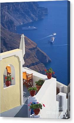 Aegean View Canvas Print by Aiolos Greek Collections