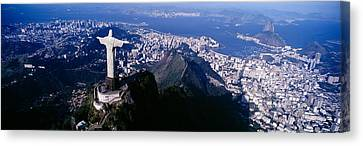 Christ Canvas Print - Aerial, Rio De Janeiro, Brazil by Panoramic Images
