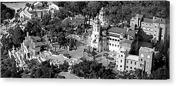 Aerial View Of A Castle On A Hill Canvas Print by Panoramic Images