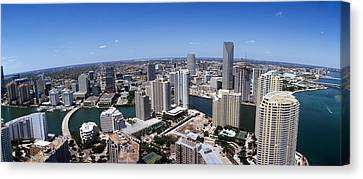 Aerial View Of A City, Miami Canvas Print