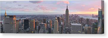 Aerial View Canvas Print - Aerial View Of A City, Midtown by Panoramic Images