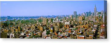 Aerial View Of A City, New York City Canvas Print by Panoramic Images