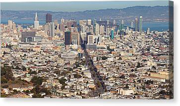 Aerial View Of A City, San Francisco Canvas Print by Panoramic Images