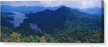 Aerial View Of A Valley, Kao Sok Canvas Print by Panoramic Images