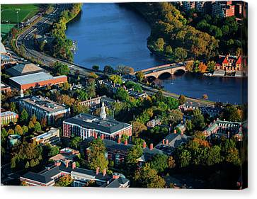 Boston Bridges Canvas Print - Aerial View Of Cambridge And Anderson by Panoramic Images