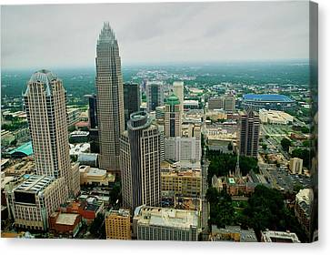 Charlotte Canvas Print - Aerial View Of Charlotte, Nc by Panoramic Images