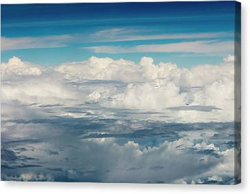 Aerial View Of Clouds, Indonesia (large Canvas Print by Keren Su