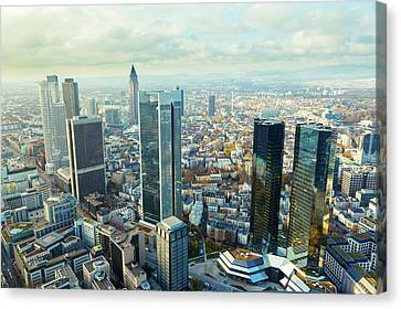 Aerial View Of Skyscrapers Canvas Print