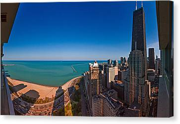 Aerial View Of The Lake Shore Drive Canvas Print by Panoramic Images