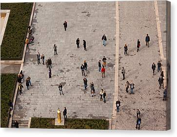 Aerial View Of Tourists Viewed Canvas Print