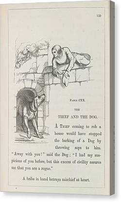 Aesop's Fables Canvas Print by British Library
